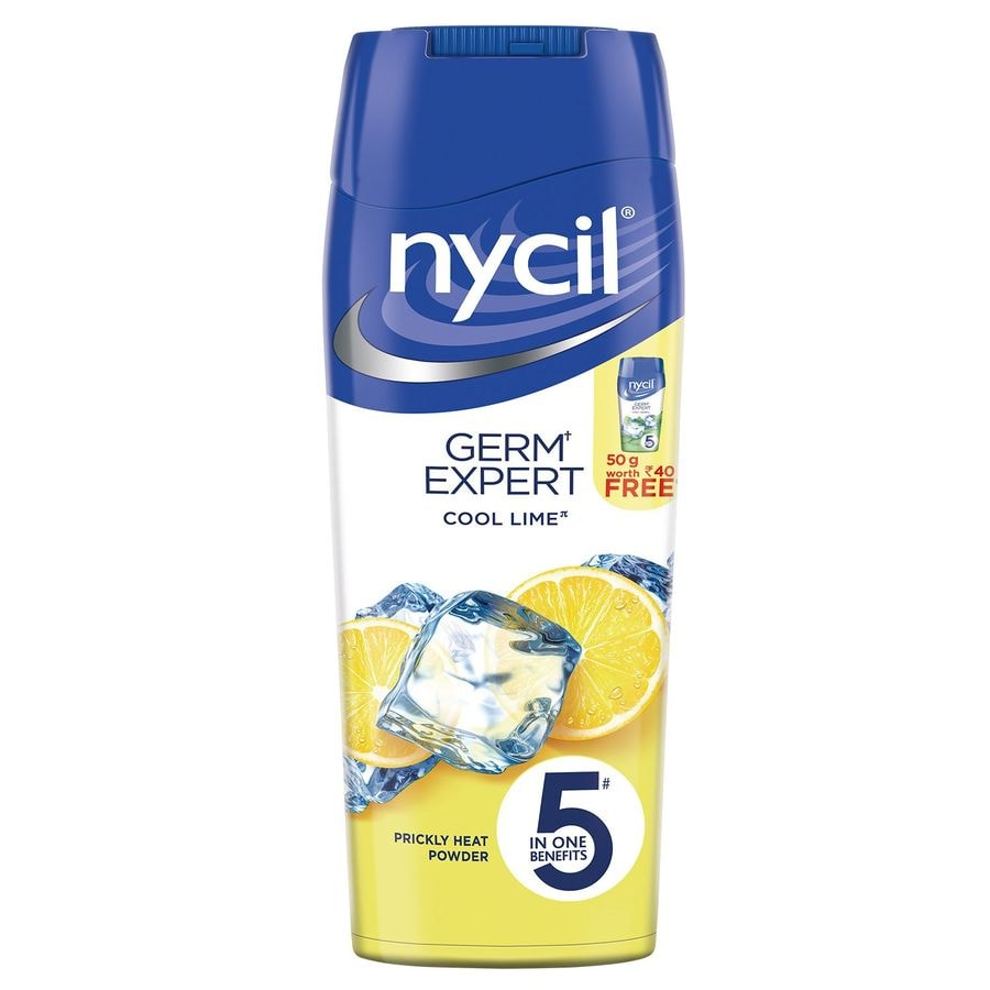 Nycil Cool Lime Prickly Heat Powder  Bottle Of 150 G (cool Herbal 50g Free)